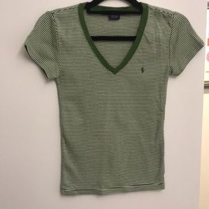Green and white striped Polo Ralph Lauren shirt